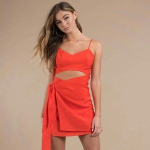 The Jet Set Diaries Tangerine Red Maui day Dress